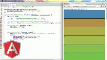 angularjs tutorial about Using $anchorScroll