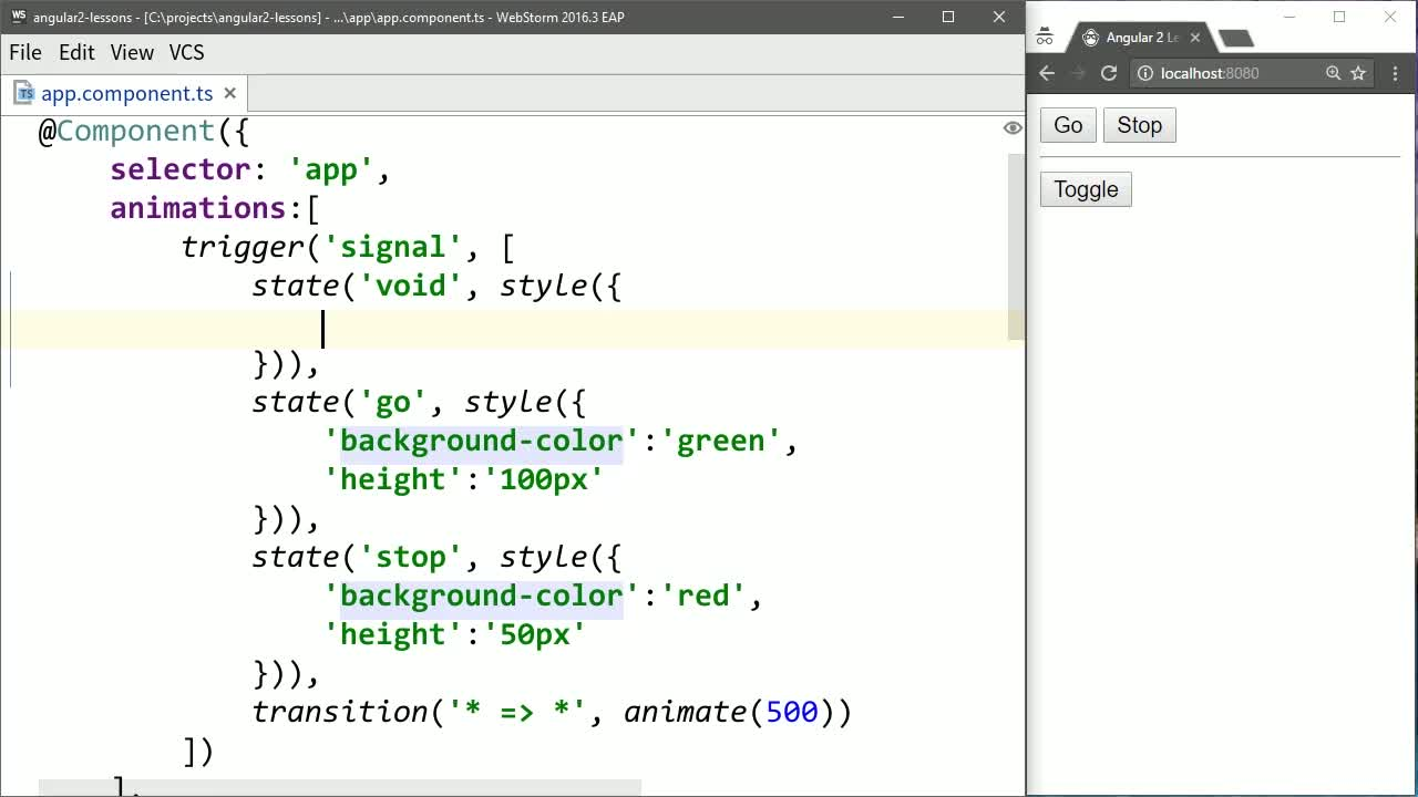 AngularJS tutorial about Animate Adding and Removing Angular Elements with ngIf