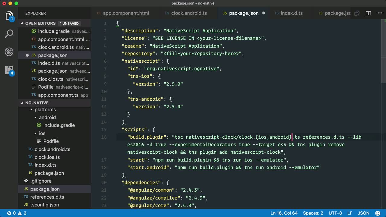 angular2 tutorial about Build a custom NativeScript view component for Android