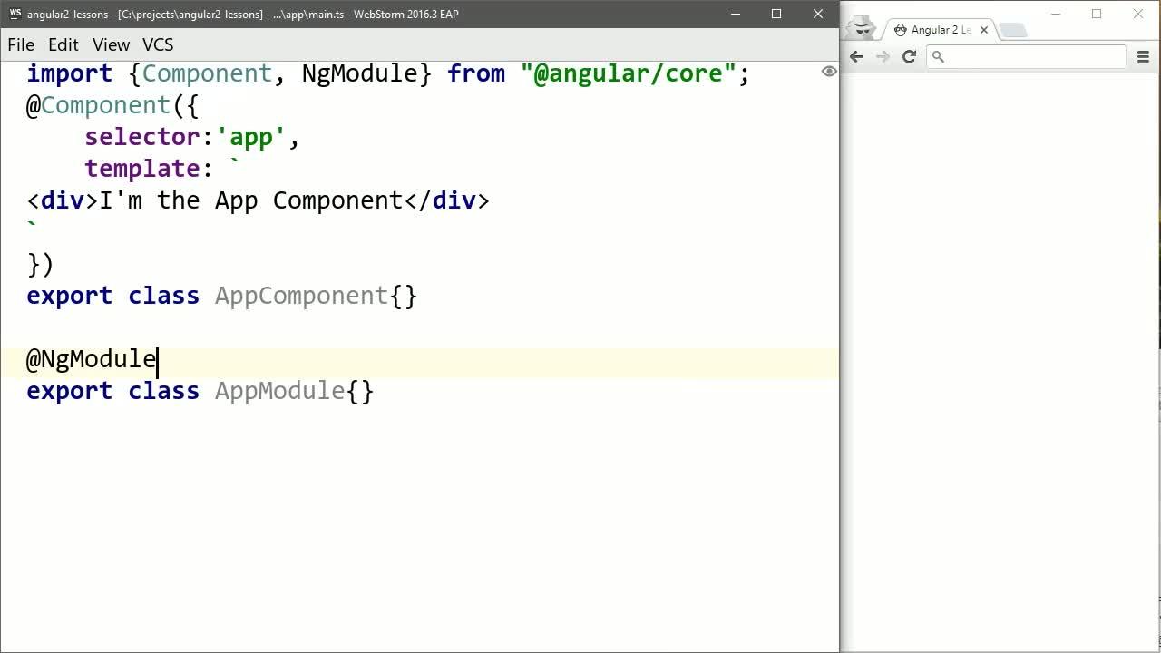 angular2 tutorial about Create an Angular 2 Hello World Component