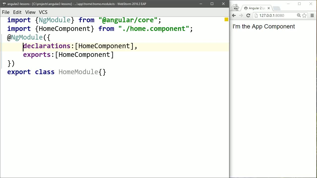 angular tutorial about Create Application-Specific Angular 2 Components
