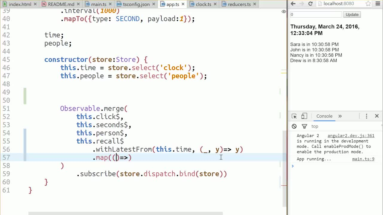 AngularJS tutorial about Use a Value from the Store in a Reducer
