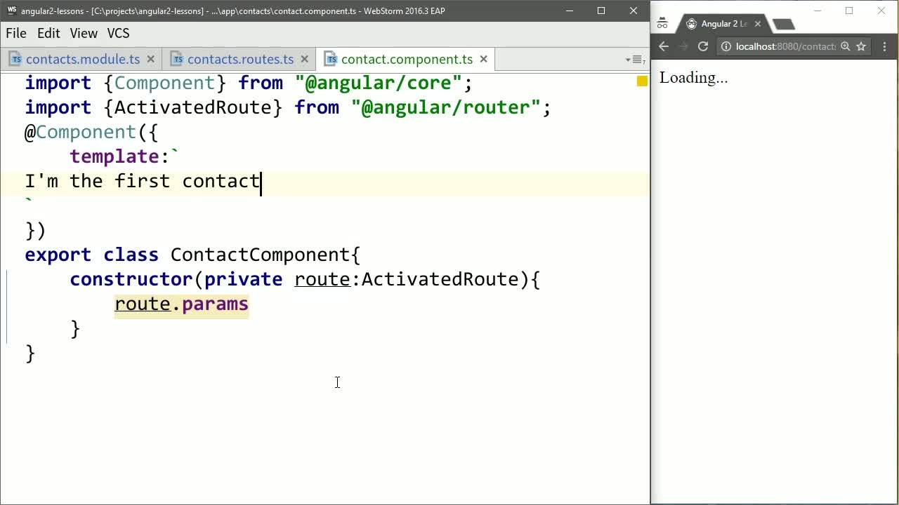 AngularJS tutorial about Use Params from Angular Routes Inside of Components