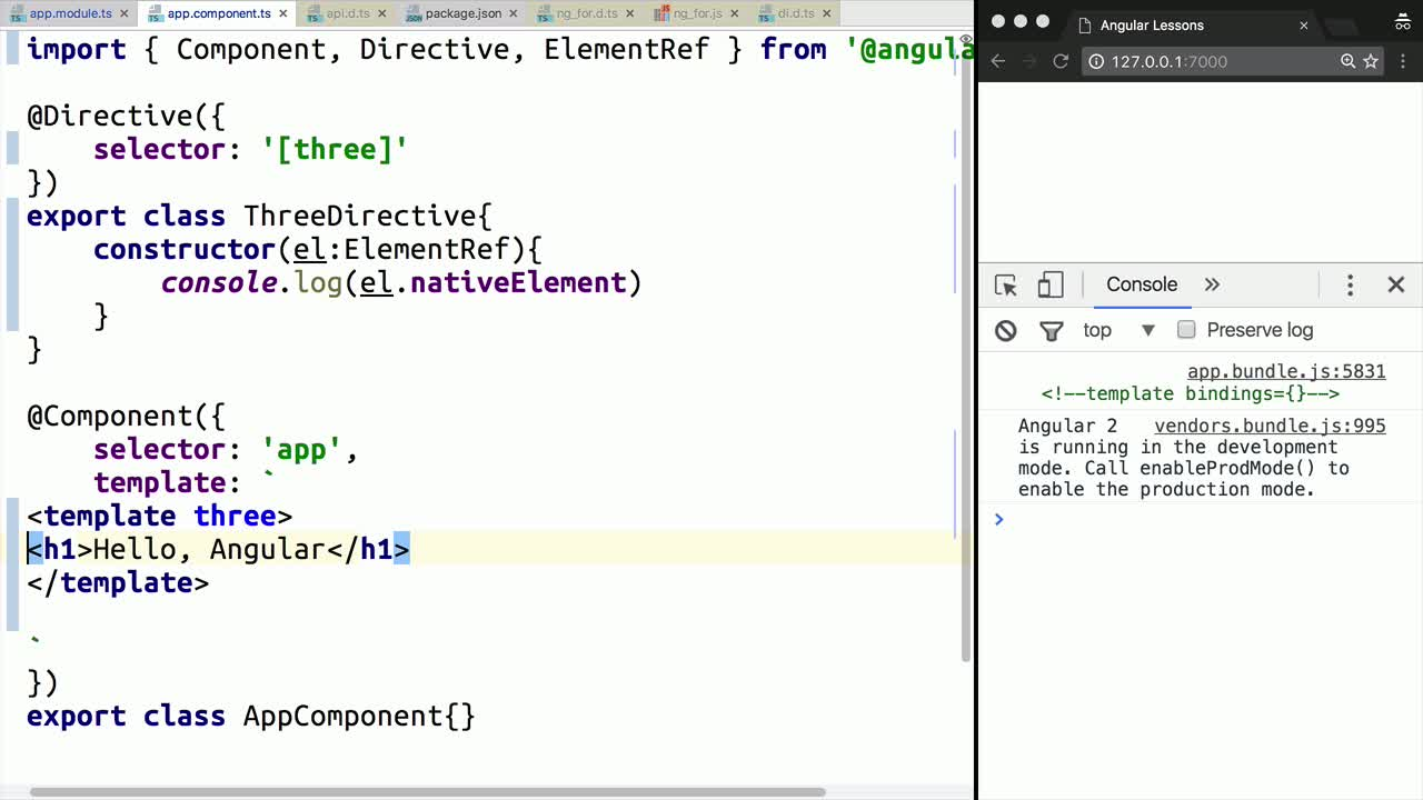 angular2 tutorial about Write a Structural Directive in Angular