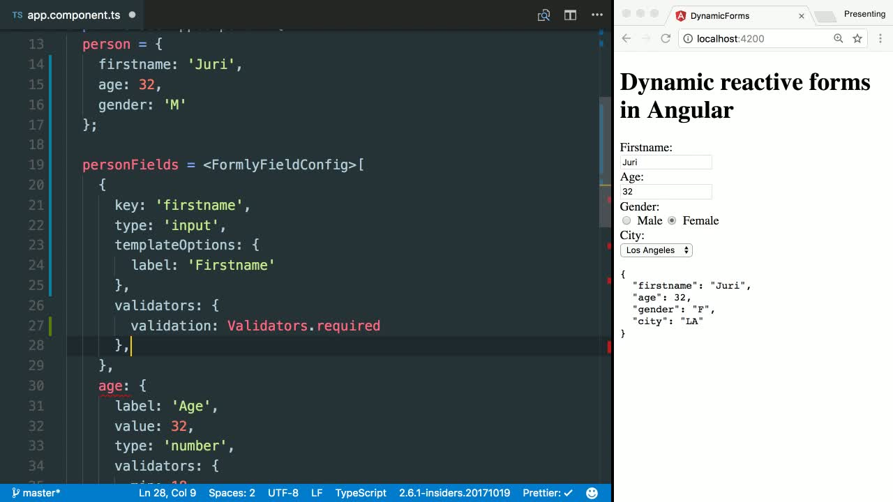 angular tutorial about Create a Dynamic Angular Form with ngx-formly