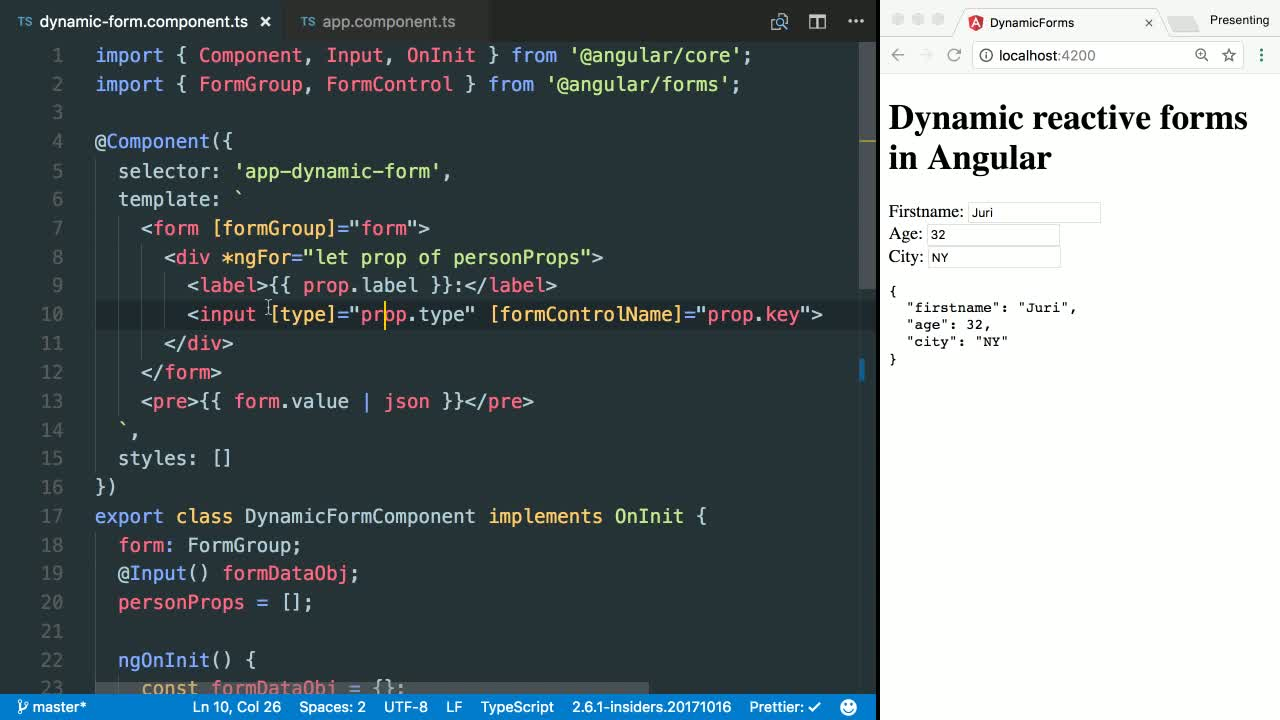 Create Dynamic Select Boxes with Angular's Reactive Forms from