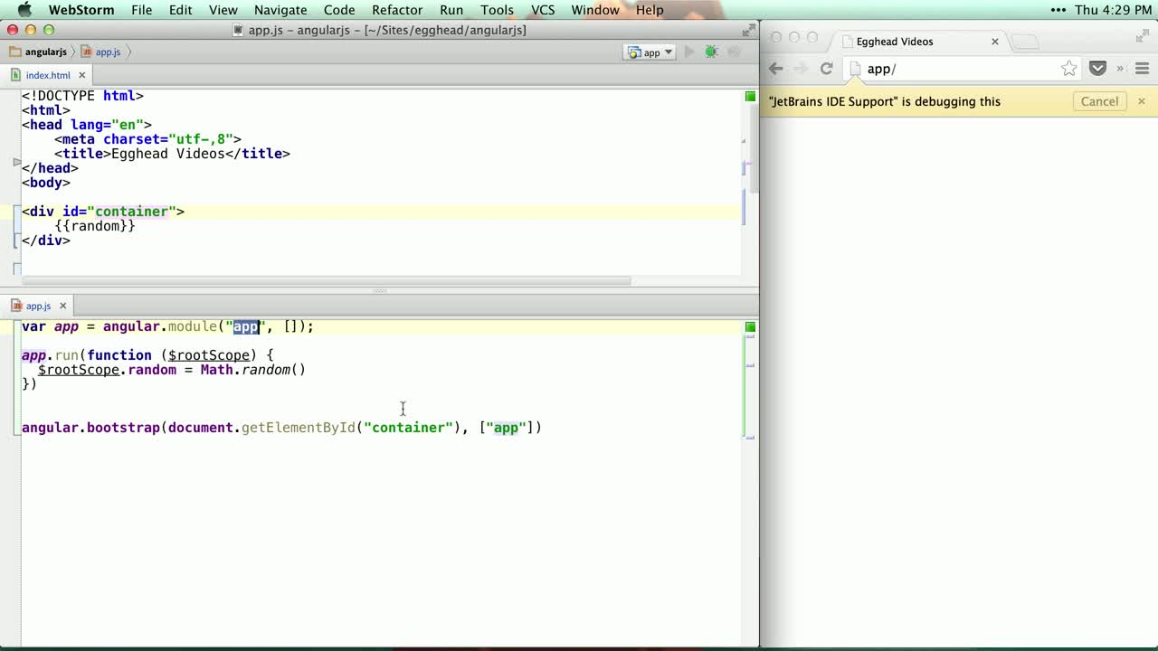 angularjs tutorial about Using angular.bootstrap to Initialize Your App