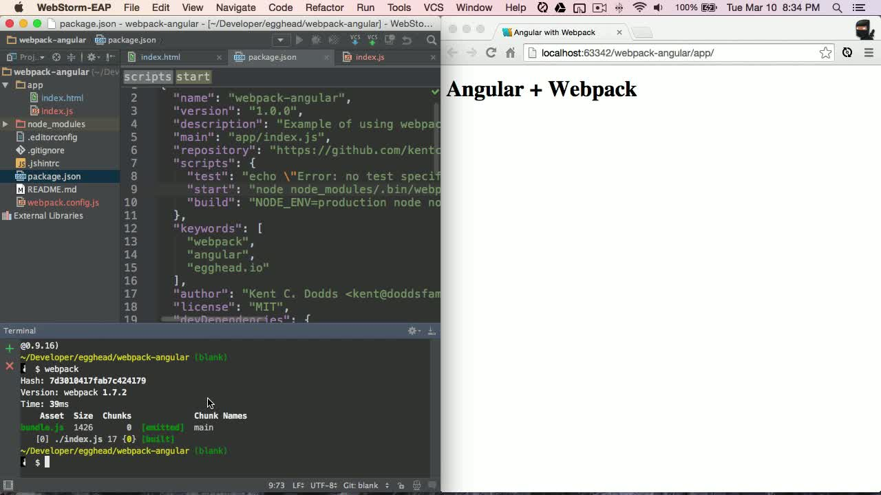 angularjs tutorial about Angular with Webpack - Introduction