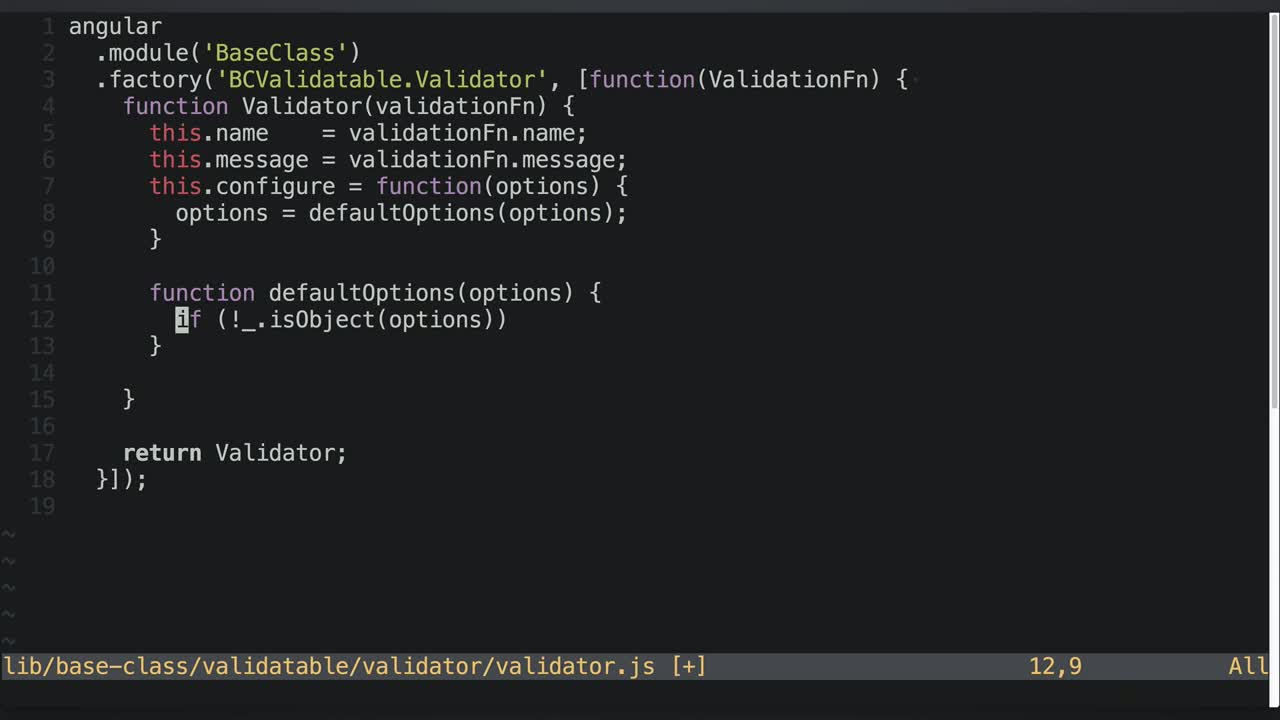 AngularJS tutorial about Basic Implementation of Configurable Validations