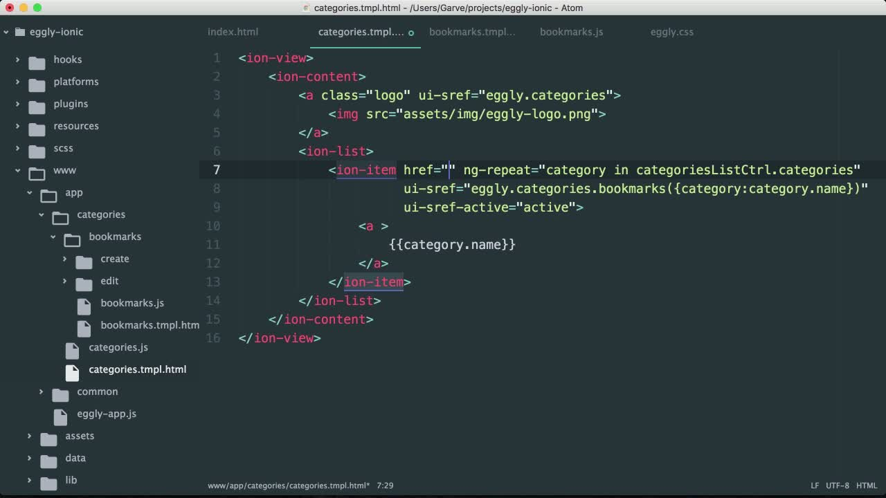 angularjs tutorial about Build a Sidebar Layout with Ionic