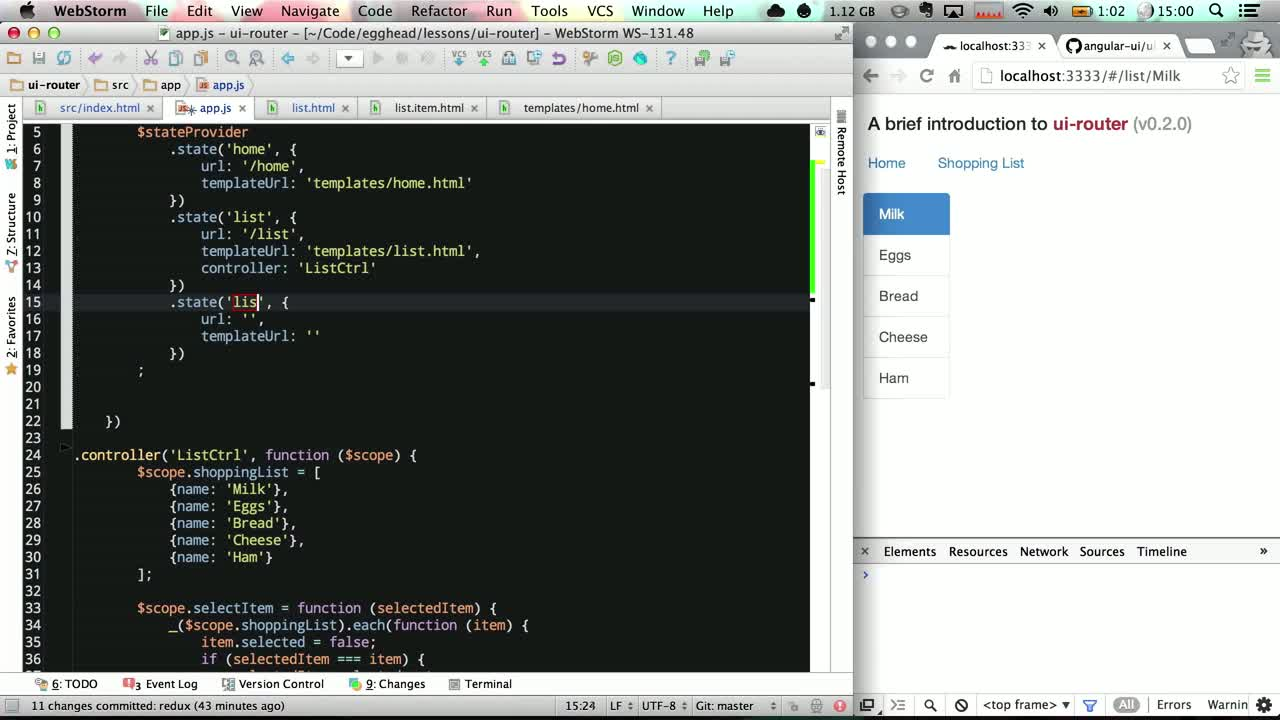 AngularJS tutorial about Introduction to ui-router
