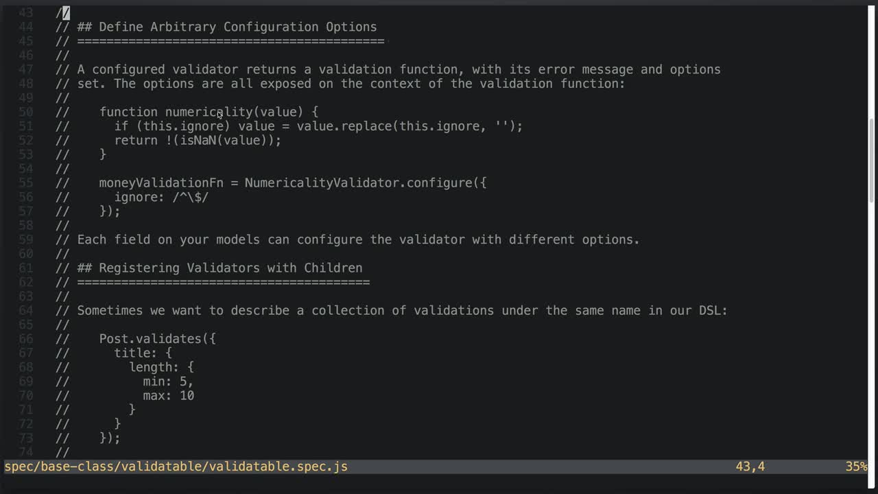 AngularJS tutorial about Model Validation Design Review