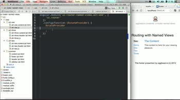 angularjs tutorial about ui-router Named Views