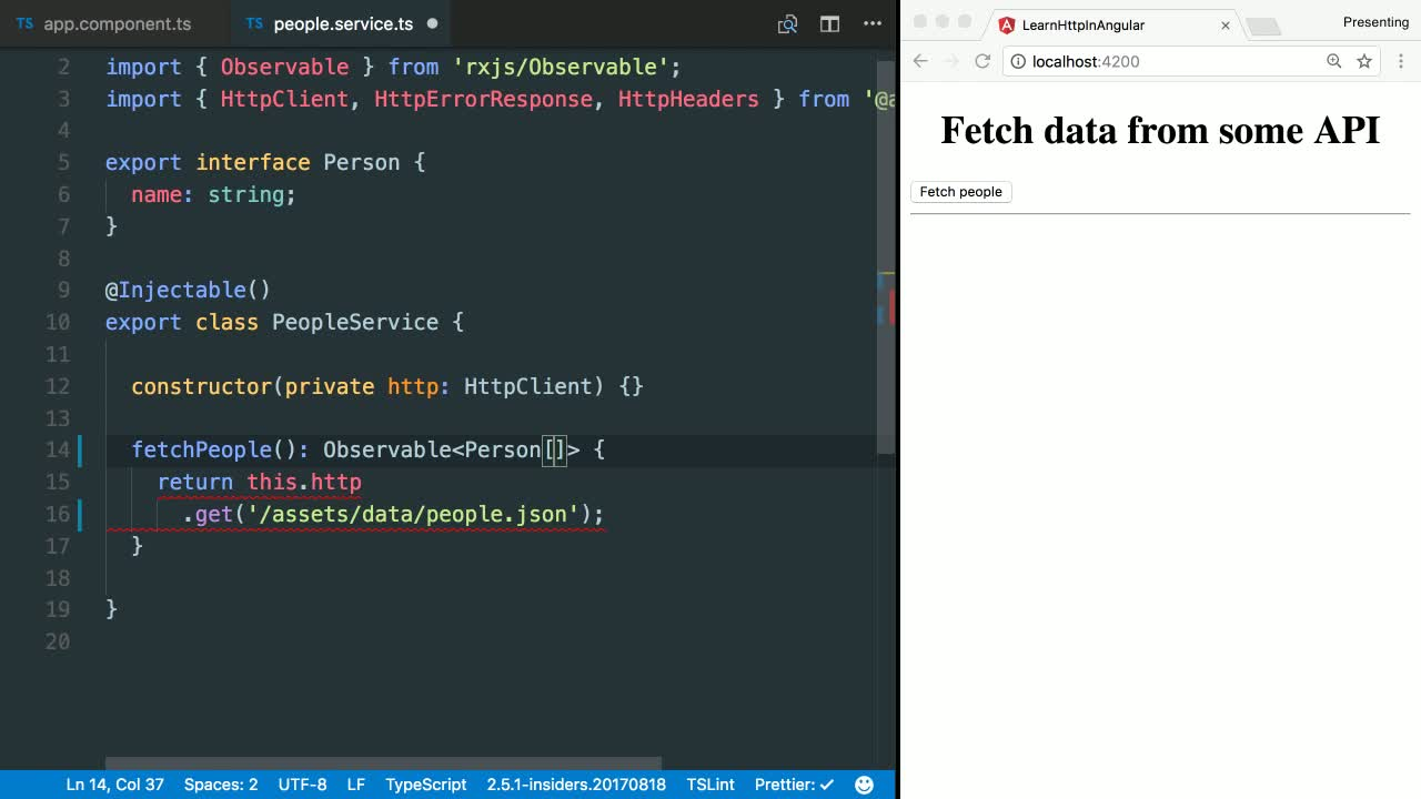 angular tutorial about Type Check an Http Response using the Angular HttpClient and TypeScript