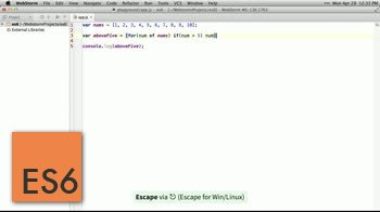 AngularJS tutorial about Array Comprehensions - NON-STANDARD