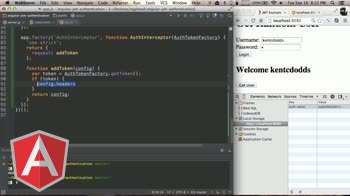 angularjs tutorial about Auth Interceptor in Angular for JWT
