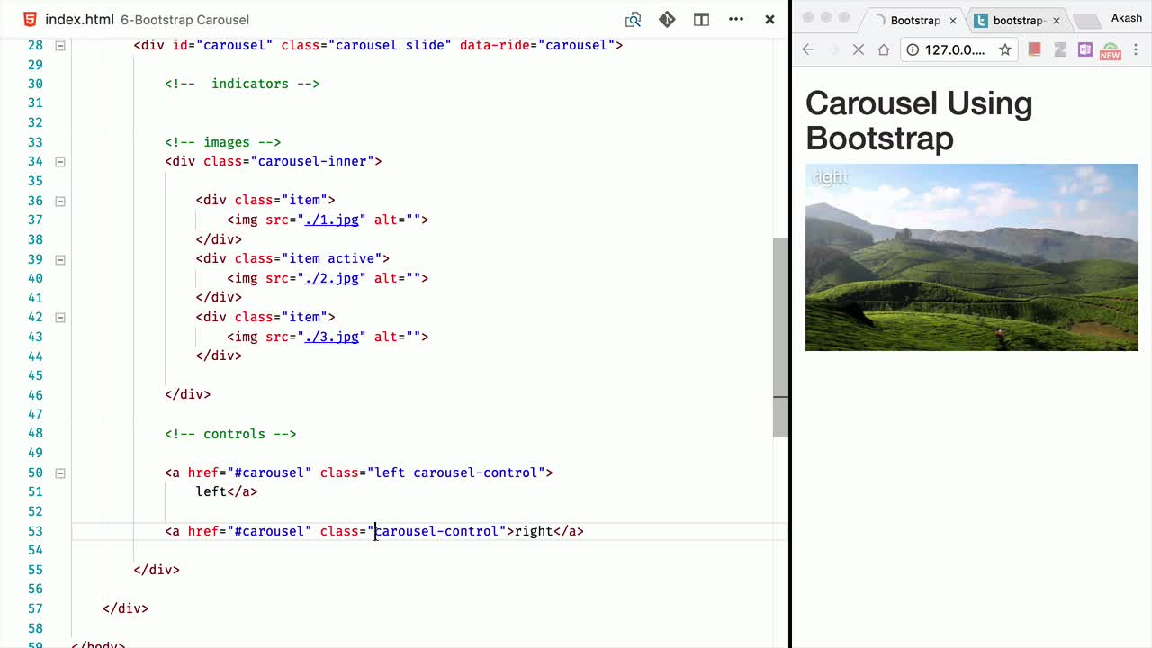 css tutorial about Build a Carousel Control using Bootstrap