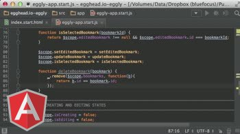 angularjs tutorial about Building an Angular App: Deleting an item from a collection