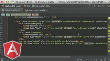 angularjs tutorial about Building an Angular App: Eggly Review