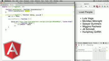 angularjs tutorial about caching with $http