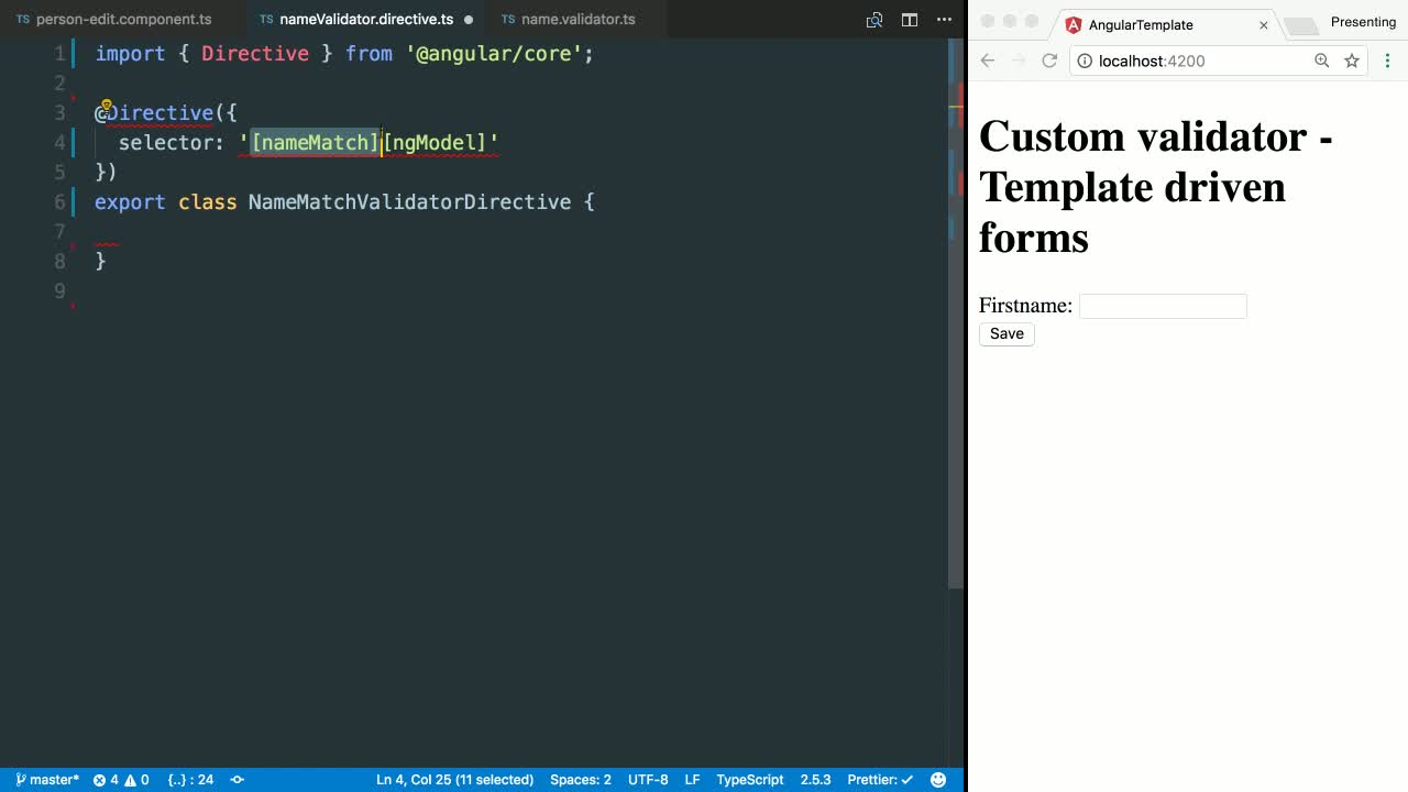 angular template driven forms