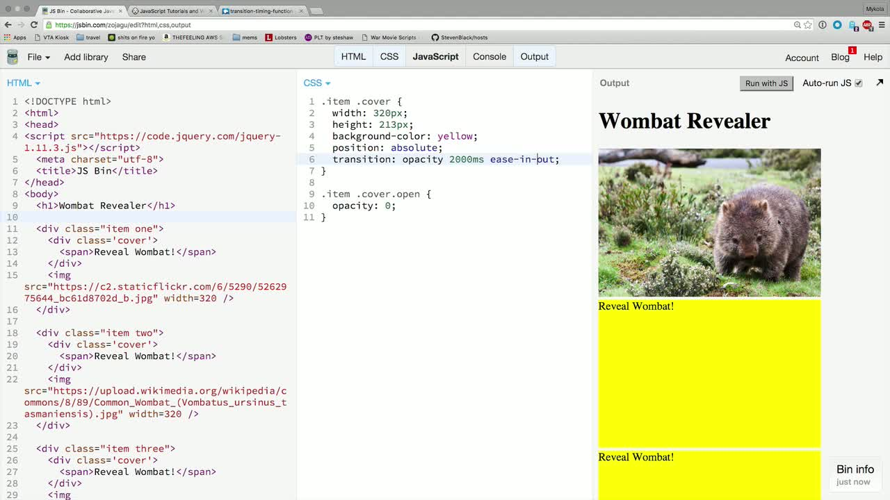 AngularJS tutorial about CSS Transitions: Easing and Other Timing Functions