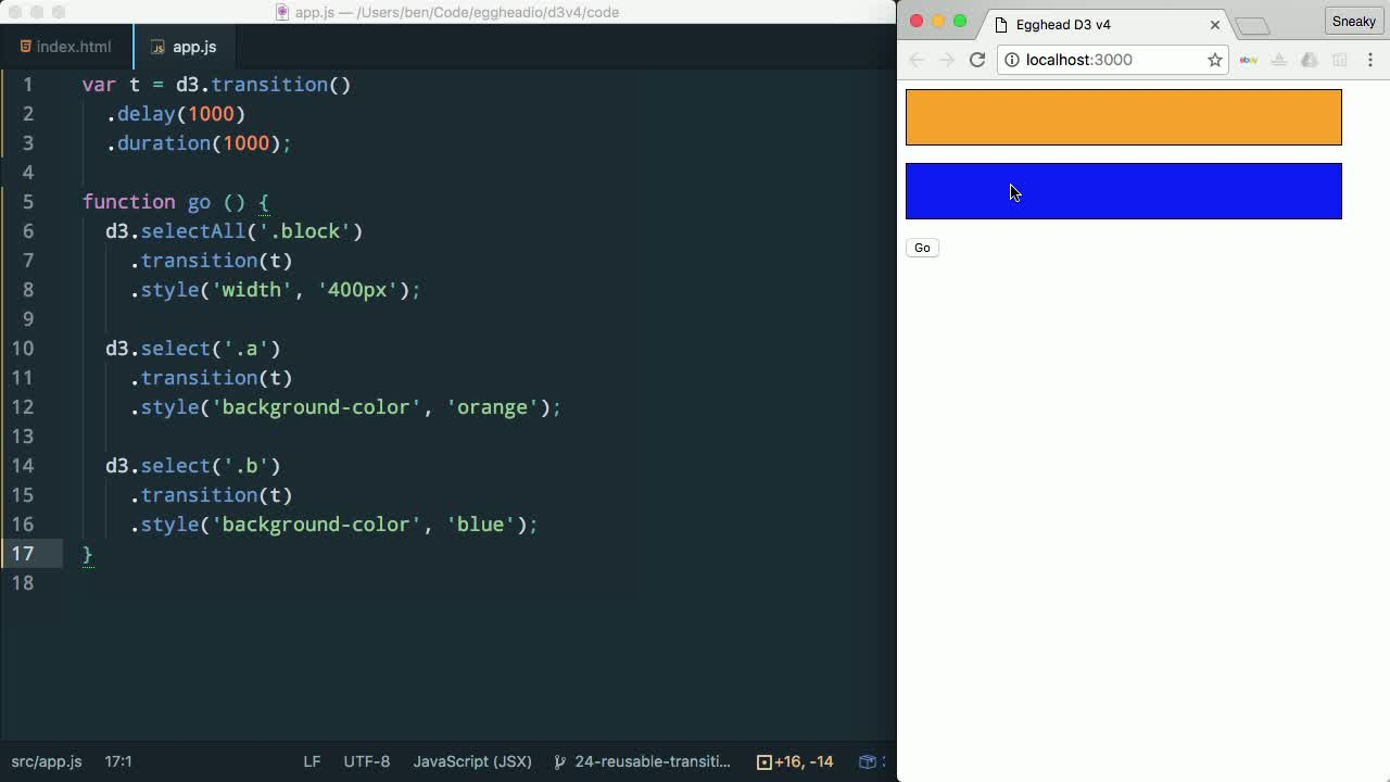 AngularJS tutorial about Reuse Transitions in D3 v4