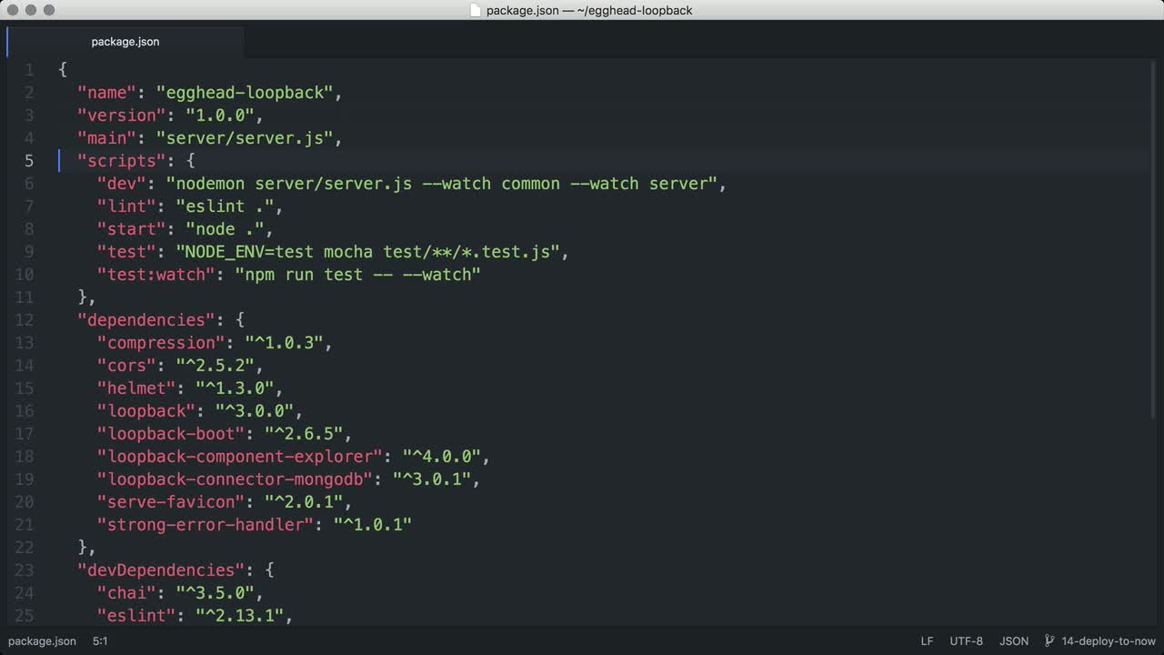 node tutorial about Deploy a LoopBack API project using now.sh