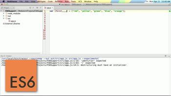 AngularJS tutorial about Destructuring Assignment in ES6