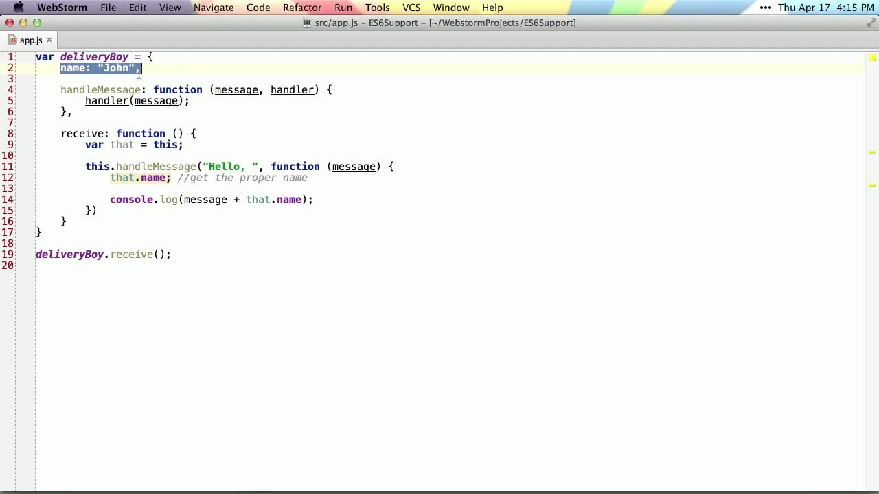 js tutorial about Arrow Function => in ES6