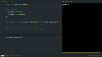 AngularJS tutorial about Change Object Properties with Ramda Lenses