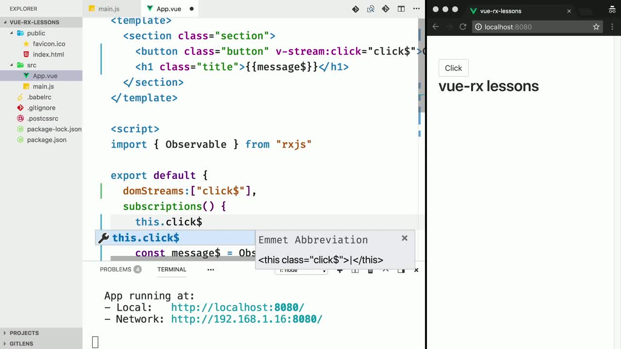 Build Async Vue js Apps with RxJS from @johnlindquist on