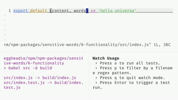 js tutorial about Add package functionality using npm scripts