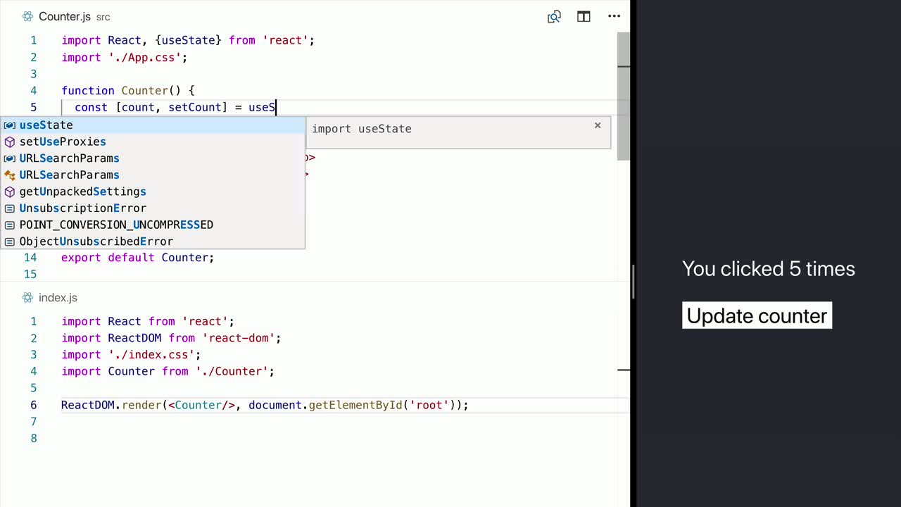 Playlist - Learn React hooks, lazy, and memo API in 12 minutes! on
