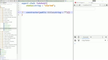 angular2 tutorial about Adding a data model