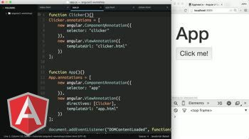 AngularJS tutorial about Angular 2 - Events (es5)