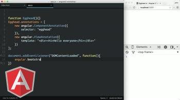 AngularJS tutorial about Angular 2 - Hello World (es5)