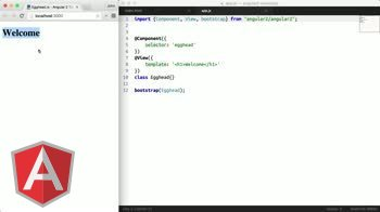 angular tutorial about Angular 2 - Hello World (es6)