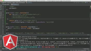 angularjs tutorial about Angular Automation: Gulp Inject