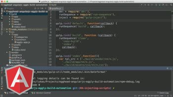 angularjs tutorial about Angular Automation: Gulp Serve