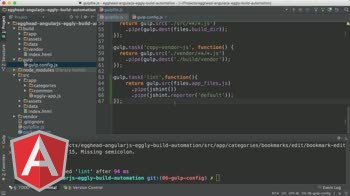 AngularJS tutorial about Angular Automation: Gulp Watch