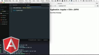 AngularJS tutorial about Getting started with Angular + JSPM + ES6