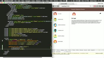 angularjs tutorial about Angular Material: Theming and ARIA