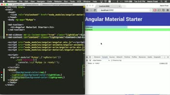angularjs tutorial about Angular Material: Containers with the Layout API