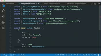 angular tutorial about Add native mobile page navigation using Angular Router