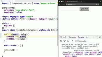 angular tutorial about Control Angular 2 Events with $event and Event Handlers