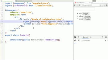 AngularJS tutorial about Template property syntax