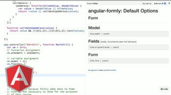 angularjs tutorial about angular-formly: Default Options