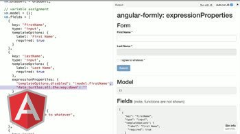 angularjs tutorial about angular-formly: expressionProperties