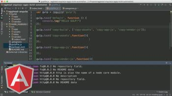 angularjs tutorial about Angular Automation: Gulp Tasks